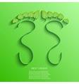 eco footprint background Eps10 vector image vector image