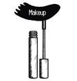 eyelash make up drawing icon vector image