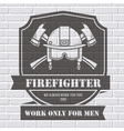 Firefighter logo or label template background on vector image vector image