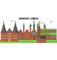 germany lubeck city skyline architecture vector image vector image