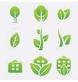 Green eco icons vector | Price: 1 Credit (USD $1)