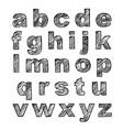 hand-drawn alphabet calligraphy font modern vector image vector image