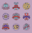 handmade needlework craft badges sewing fashion vector image vector image
