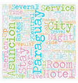 Hotels Of Paraguay text background wordcloud vector image vector image