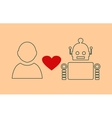 Human and robot relationships vector image vector image