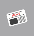 icon concept of newspaper on grey background vector image