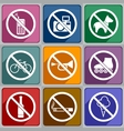 Icons prohibition vector image