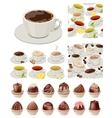 ig realistic set with cups of tea and coffee vector image vector image