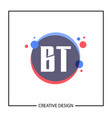 initial letter bt logo template design vector image