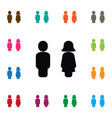 isolated lady icon mister element can be vector image vector image