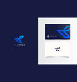 k abstract logotype with business card template vector image vector image