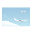 landing approach vector image vector image