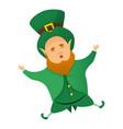 leprechaun patrick icon cartoon style vector image vector image
