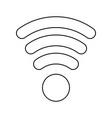 line wifi symbol icon design vector image
