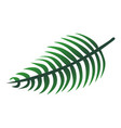 long tropical leaf icon cartoon style vector image