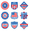 made in usa labels american vector image