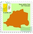 mail to-from Vatican vector image vector image