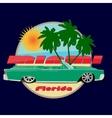 Miami florida car cadillac print vector image vector image