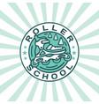 modern professional emblem roller school in vector image