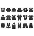 monochrome of children vector image