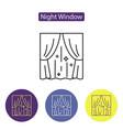 night window line icon vector image vector image