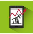 oil prices online industry vector image vector image