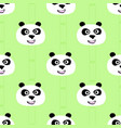 panda face seamless pattern vector image