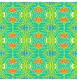 Pattern with flowers in tropical colors vector image vector image
