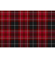Pride of wales fabric textile red tartan seamless vector image vector image