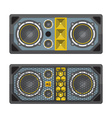 professional concert tour array speakers colored vector image