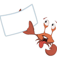 Red crab white blank cartoon vector image vector image