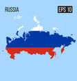 russia map border with flag eps10 vector image vector image