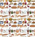 Seamles food vector image