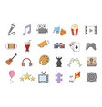 set entertainment colorful icons vector image