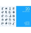 Set of BLUE HAMSTER Library deportation icons vector image