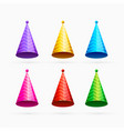 set of colorful celebration or happy birthday caps vector image vector image