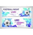 Set of sport football banners vector image vector image