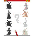 shadow game with rabbits vector image vector image
