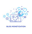 shake hands blog monetisation virtual vector image vector image