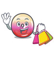 shopping jelly ring candy character cartoon vector image vector image