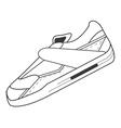 single sneaker icon vector image vector image
