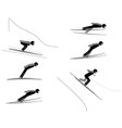 Ski jumping - pictogram set vector image
