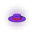 Sombrero hat icon comics style vector image vector image