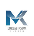 technology mk letter logo concept design symbol vector image vector image