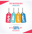this weekend only special offer sale template vector image vector image