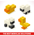 Toy Block Farm 03 Games Isometric vector image vector image