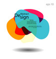 unique abstract graphic elements vector image