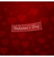 Valentines Day realistic Ribbon Template vector image