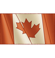 Vintage Canadian flag background vector image vector image