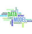 word cloud data model vector image vector image